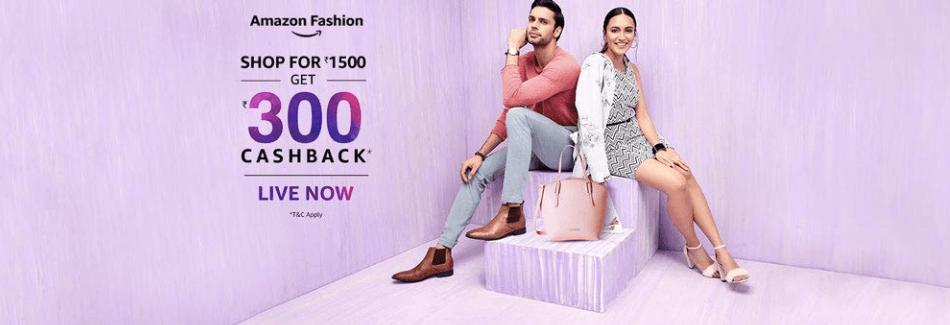Amazon Fashion Get 300 Cashback