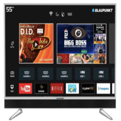 Blaupunkt 140cm (55 inch) Ultra HD (4K) LED Smart TV with In-built Soundbar at Rs 47,999 on Flipkart