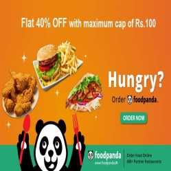 Foodpanda Coupons & Offers: Flat 40% OFF on First Order Dec 2019