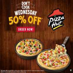 Pizza Hut Wednesday Offer Today: Buy 1 Get 1 FREE | Starting @ Rs.99