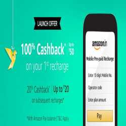 Amazon Pay Recharge Offers: Upto 100% Cashback On Recharge & Bill Payment