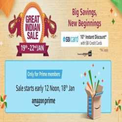 Amazon Great Indian Sale Offers 19th-22nd October 2020: Upto 80% Off on Republic Day Offers