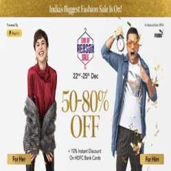 Myntra End Of Reason Sale: Upto 80% Off + Flat 10% Off Via HDFC Cards [19th-22nd September 2020]