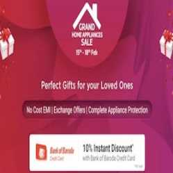 Flipkart Grand Home Appliances Sale Offers: Upto 80% Off On Home Appliances + 10% Discount Via ICICI bank