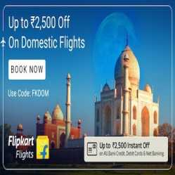 Flipkart Flight Booking Coupons & Offers May 2020: Flat Rs.2500 Off on Domestic Flight Booking