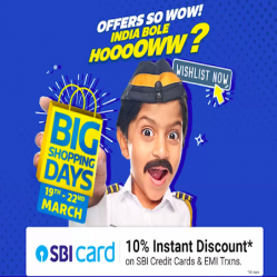 Flipkart Big Shopping Days 2021 Offers: Great Deals On Mobiles, Electronics, Fashion & Home Appliances + SBI Offer 19th to 22nd October