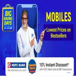 Flipkart Big Saving Days 18th-22nd Jan 2021: 80% Off on Mobiles + Extra 10% Discount