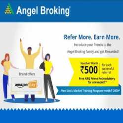 Angel broking Referral Code September 2021: SignUp using ZcCkkD refer code FREE Rs 500 in
