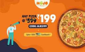 MojoPizza Coupons & Offers Today: Flat 50% Off + Extra Rs. 300 Cashback Via Paytm - Dec 2019
