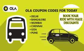 Ola Cabs Coupons & Offers Today: Flat Rs.150 OFF on First 3 Rides - Jan 2020