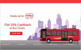 Redbus Offers & Coupon Code: Flat Rs.350 OFF + Extra 15% Cashback - Jan 2020