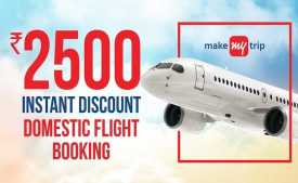 MakeMyTrip Flight Coupons & Offers January 2020: Flat Rs.1500 Cashback on Domestic Flight Booking