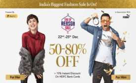 Myntra End Of Reason Sale : Upto 70% Off + Flat 10% Off Via HDFC Cards
