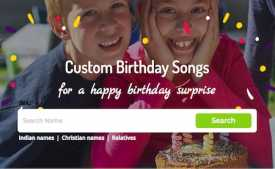 Free Birthday Songs With Name in Hindi: Download Birthday Song with Name in Hindi & English from birthdaysongswithnames.com