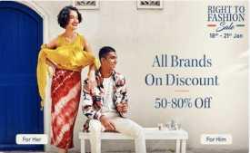Myntra Buy 1 Get 3 Free Offer: Buy 1 Clothing, Footwear & get 3 FREE | 18th To 21st Jan 2020