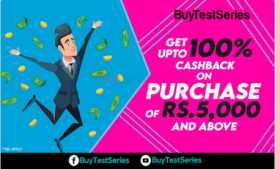 BuyTestSeries Coupons & Offers March 2020: Get 100% Cashback on Test Series & Books on Purchase of Rs.5000 Via PayPal