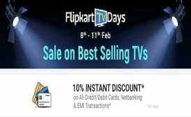 Flipkart TV days Offers: Upto 60% Off On Smart TVs + Extra 10% Off on all Bank Cards [9th To 12th March 2020]