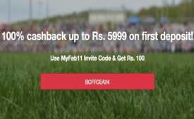 MyFab11 Referral Code 2020: Rs 50 Sign Up + Rs 50 Bonus on Refer Download MyFab11 App