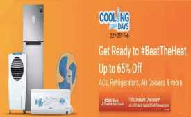 Flipkart Cooling Days Offer 22nd To 25th Feb 2020: Upto 65% OFF on AC, Refrigerator, Air Cooler + Extra 10% Off With ICICI Bank