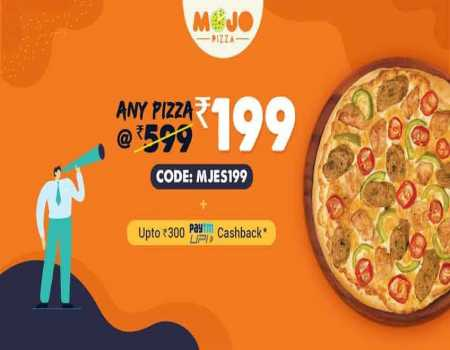 MojoPizza Coupons & Offers Today July 2020: Flat 50% Off + Extra Rs.300 Cashback