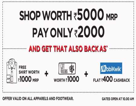 Brand Factory Free Shopping Weekend Offers: Flat Rs 2000 Cashback from 4th-8th Dec 2019