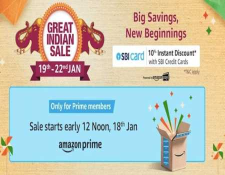 Amazon Great Indian Festival 2021 Offers: Upto 80% Off + 10% Discount on HDFC Cards