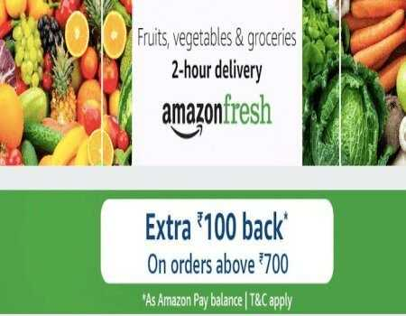 Amazon Fresh Grocery Offers: Flat Rs.250 Off on Online Grocery Shopping
