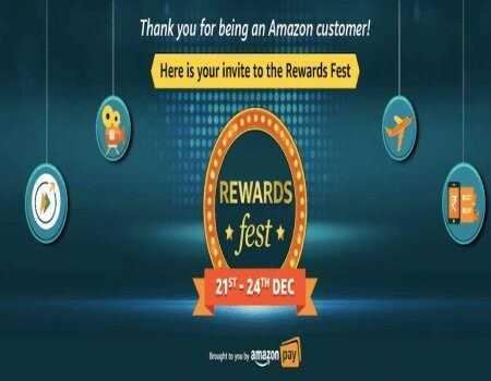 Amazon Rewards Fest 21st - 24th Dec 2021: Get Upto 100% Reward Cashback On Scan & Pay UPI Payment