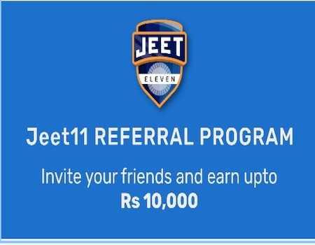 Jeet11 Referral Code 2020: Rs.30 Signup + Rs.20 Bonus on Refer | Download App
