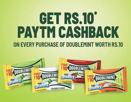 Center Fresh Paytm Offer: Free Rs.10 PayTM Cashback With Each Pack