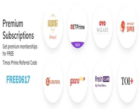 Times Prime Offers & Referral Code: Rs.100 OFF + Extra 30% on Premium Membership [July 2020]