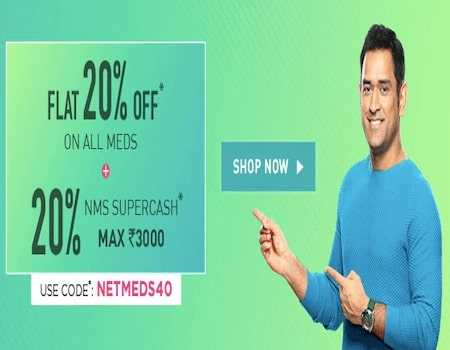 Netmeds Coupons & Offers April 2020: Flat 40% + Rs.400 Cashback Using Amazon Pay on Wellness Products