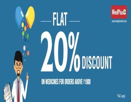 MedPlus Offers & Coupons September 2020: Flat 40% OFF + Extra 10% on Online Pharmacy