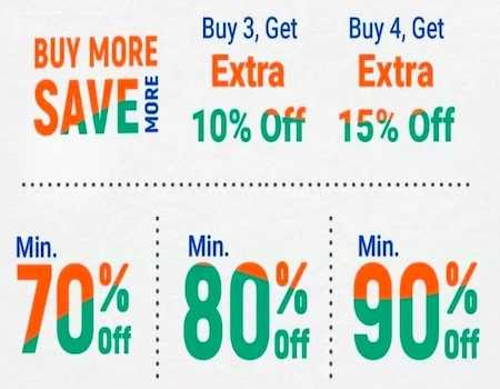 Flipkart Buy More Save More Offer: Flat Rs 150 Off On Rs 999 + Extra 10% Off On 3 Item