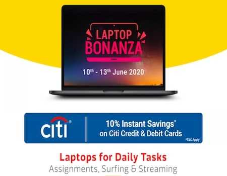 Flipkart Laptop Bonanza Offers: 50% Off On Laptops + 10% Discount With Citi Cards [10th-13th September 2020]
